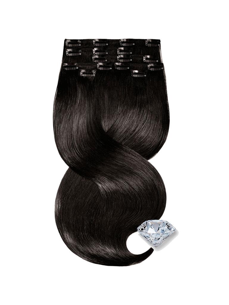 clip in vlasy ciernohnede