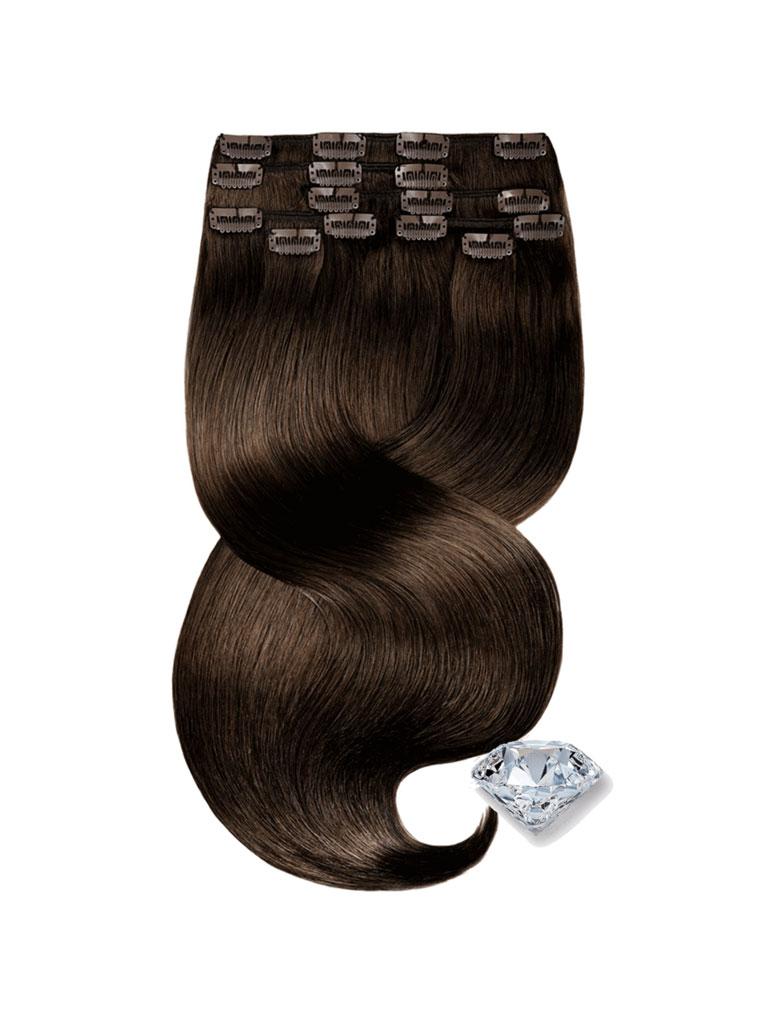 clip in vlasy hnede